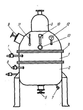Трубчатый вакуум-аппарат